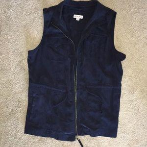 Navy Blue Fashion Vest